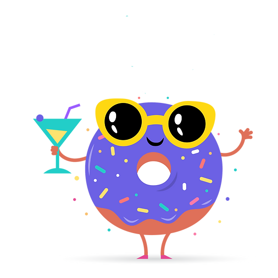 Cool Donut with Cocktail - Free PNG Images, Transparent Image Digital Download