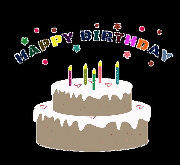 Happy Birthday Cake - Birthday PNG Transparent Image - Digital Download