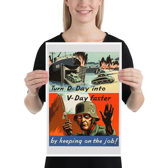 WW2 American d-day propaganda posters. WWII US Anti Nazi Reprint (replica)