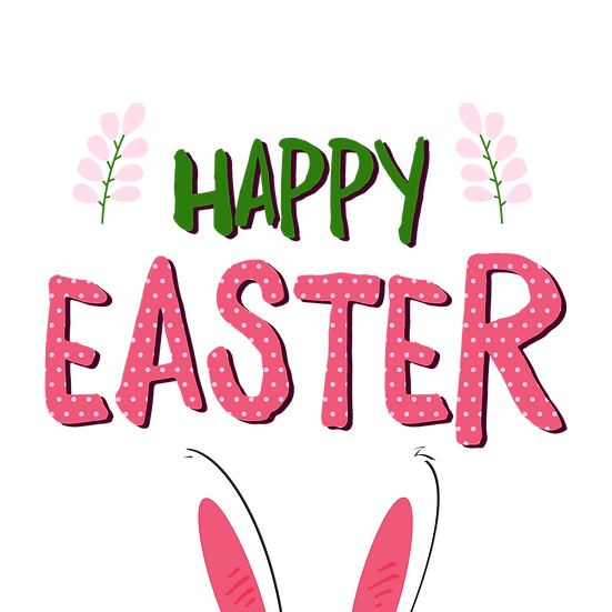 Funny Easter Greeting Card - Happy Easter Transparent Image - Instant Download