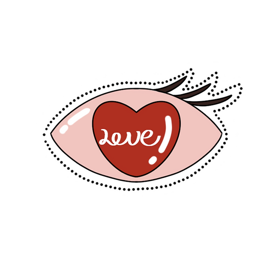 Eyes Full of Love Clipart - Valentine's Day Transparent Image - Instant Download