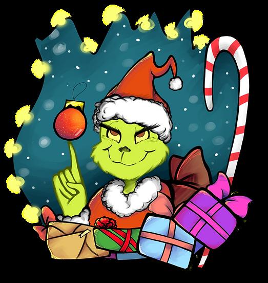 Merry Xmas Grinch PNG Santa Claus - Free PNG Images Digital Image Download