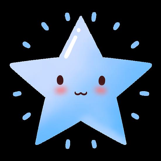 Blue Sparkling Star - Free PNG Images, Transparent Image Digital Download