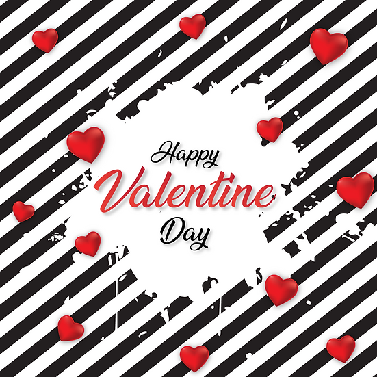 Happy Valentine Day Greeting Card PNG Image - Instant Download