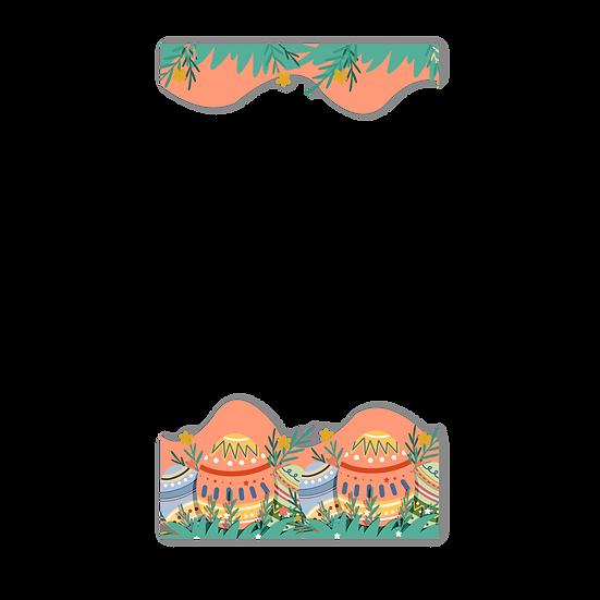 Beautiful Easter Frame - Easter PNG Transparent Image - Instant Download