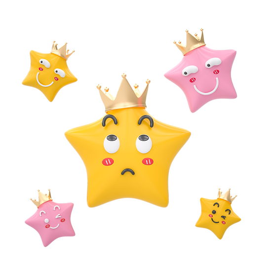 Adorable Clipart with Five Stars - Free PNG Transparent Image, Instant Download