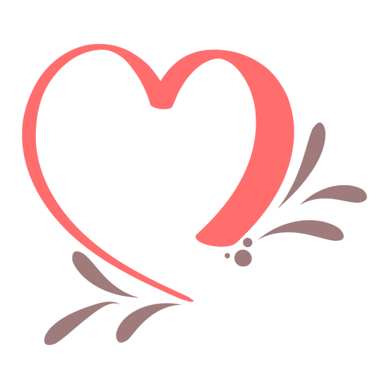 Heart Clipart - Valentine's Day PNG Transparent Image - Instant Download