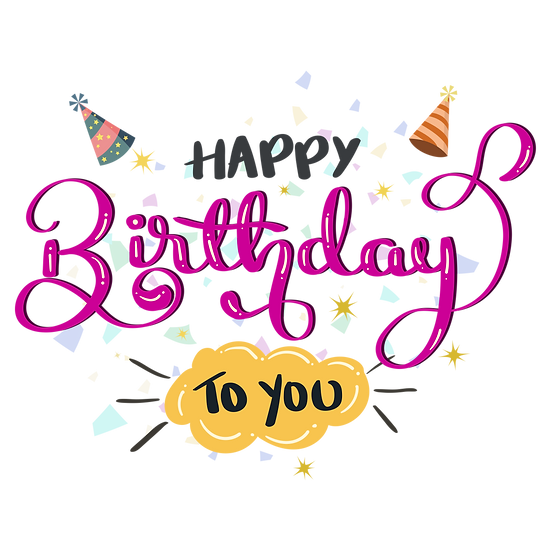 Great Birthday Clipart - PNG Transparent Image - Digital Download