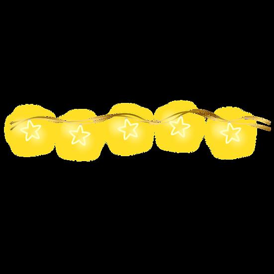 String Lights with Stars - Free PNG Images, Transparent Image Digital Download