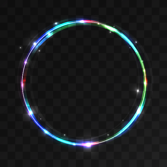 Shiny Colorful Circle - Free PNG Images, Instant Download