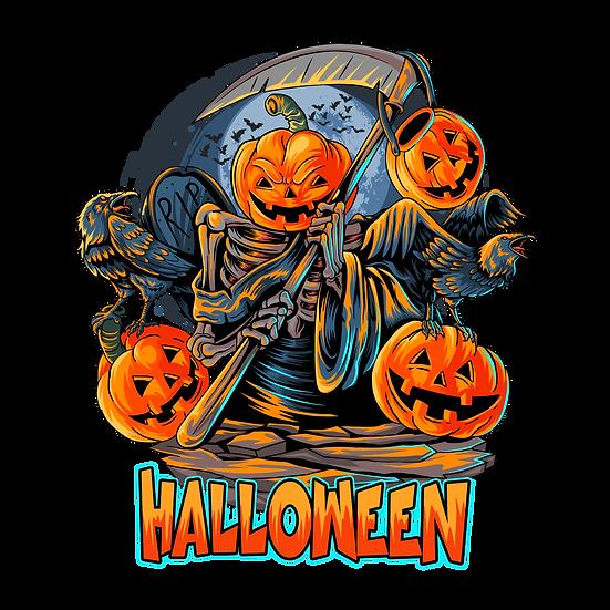 Halloween Zombie Pumpkins Printables PNG Image  - Editable / Downloadable
