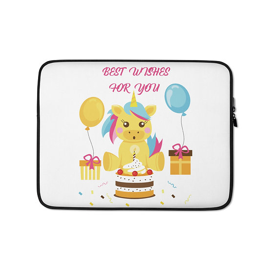 Best Wishes for U Unicorn Laptop Sleeve for MacBook, HP, ACER, ASUS, Dell