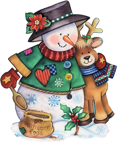 Snowman and Reindeer Free PNG Images - Free Digital Image Download