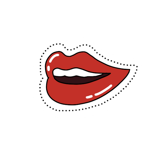 Red Lips Clipart - Valentine's Day PNG Transparent Image - Instant Download