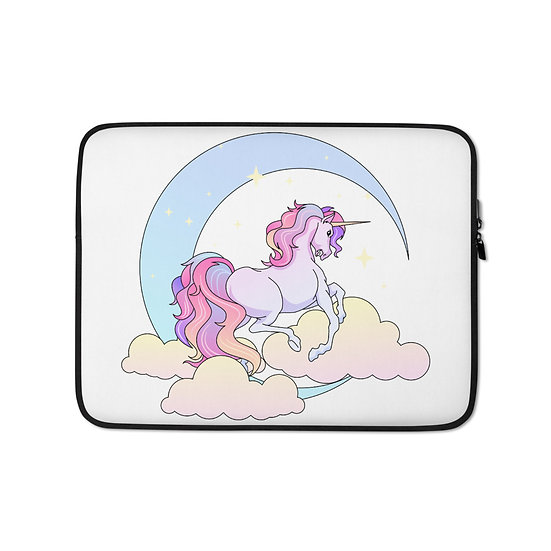 Unicorn and Moon Laptop Sleeve for MacBook, HP, ACER, ASUS, Dell, Lenovo