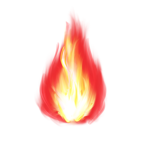 Hand-Painted Fire - Free PNG Images, Transparent Image Digital Download