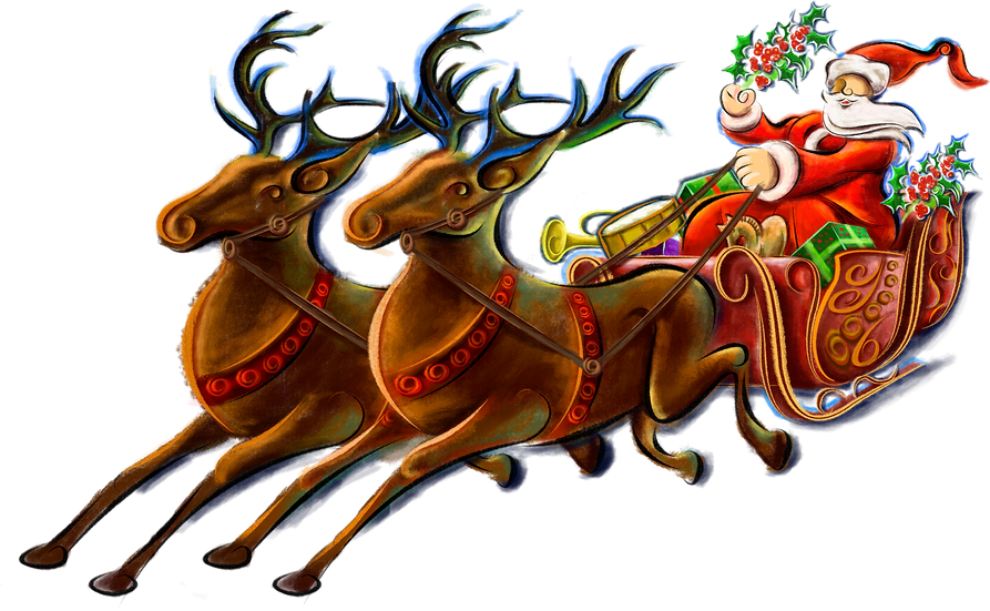 Christmas Santa Claus with Gifts Free PNG Images - Free Digital Image Download