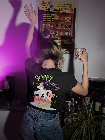 Unicorn Birthday Party Design Short-Sleeve Women's T-Shirt
