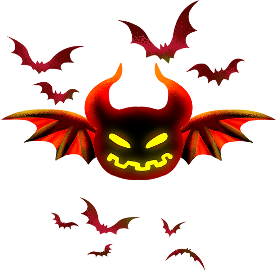 Bat Out of Hell Halloween Printables PNG Image  - Editable / Downloadable