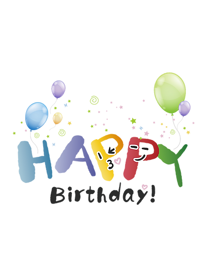 Happy Birthday Funny Clipart - PNG Transparent Image - Digital Download
