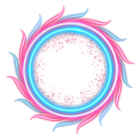 Colorful Neon Circle - Free PNG Images, Transparent Image Instant Download