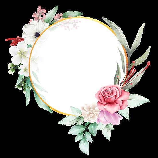 Fantastic Circle with Flowers - Free PNG Transparent Image, Digital Download