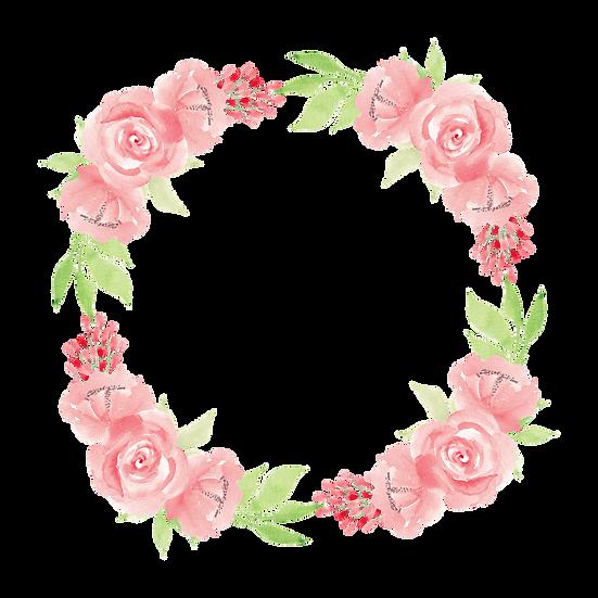 Watercolor Floral Wreath - Free PNG Images, Transparent Image Digital Download