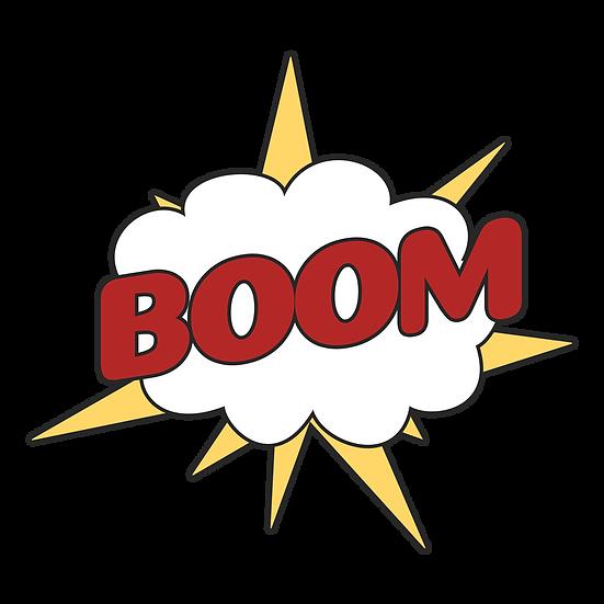 Boom Comics Explosion Cloud - Free PNG Image, Transparent Image Instant Download