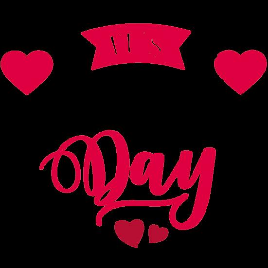 It's Valentine's Day Inscription - PNG Transparent Image - Instant Download