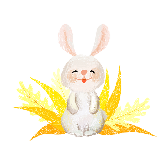 Happy Rabbit - Easter PNG Transparent Image - Instant Download