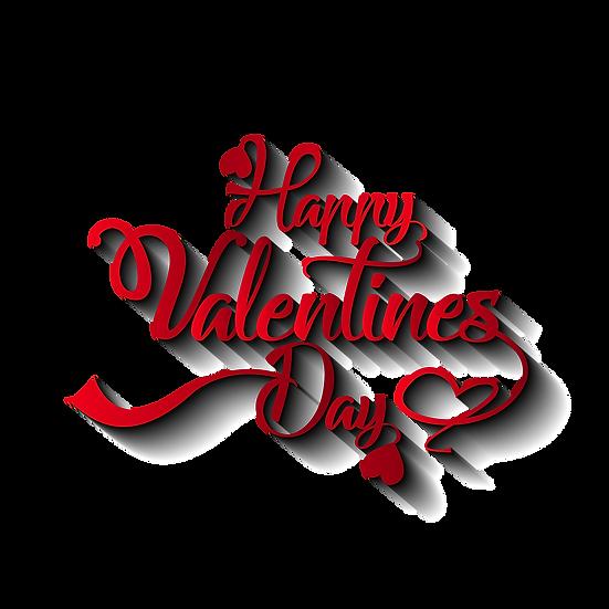 Happy Valentine's Day Wonderful Inscription Transparent Image - Instant Download