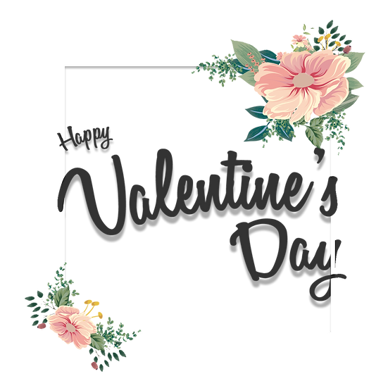 Happy Valentine's Day Amazing Greeting Card Transparent Image - Instant Download