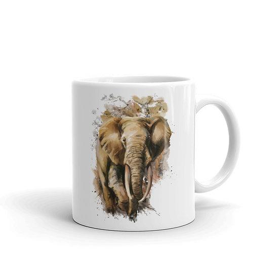 Watercolor Elephant Coffee Cup Mug for Coffee / Tea White Ceramic Mugs 11/15 oz1