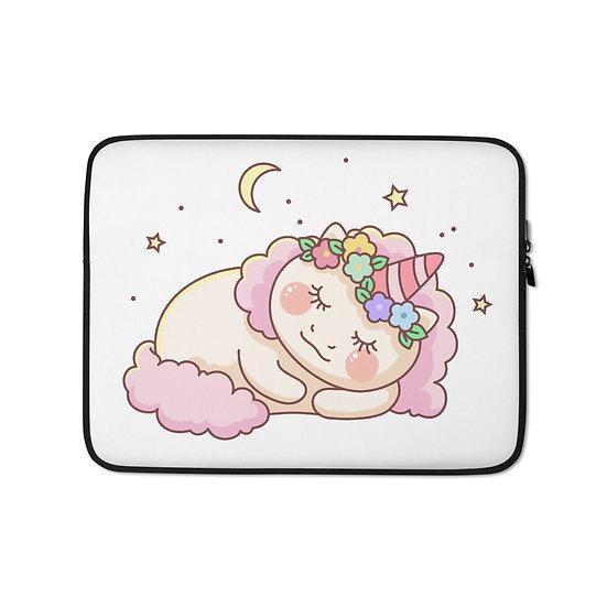 Cute Sleepy Unicorn Laptop Sleeve for MacBook, HP, ACER, ASUS, Dell, Lenovo