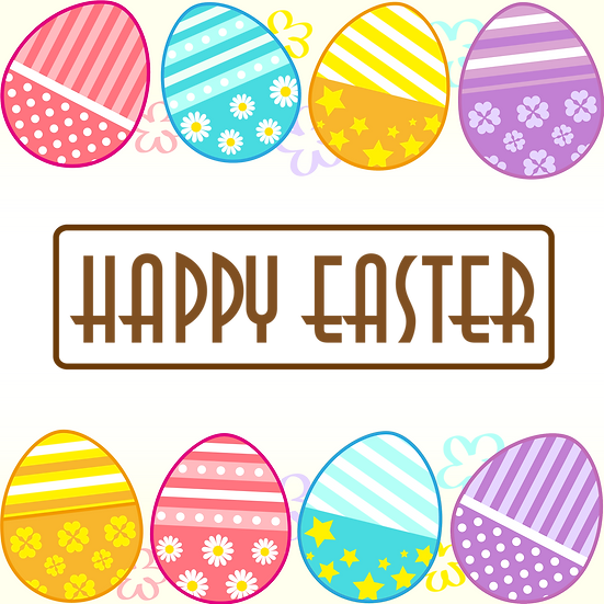 Happy Easter Funny Greeting Card - PNG Transparent Image - Instant Download
