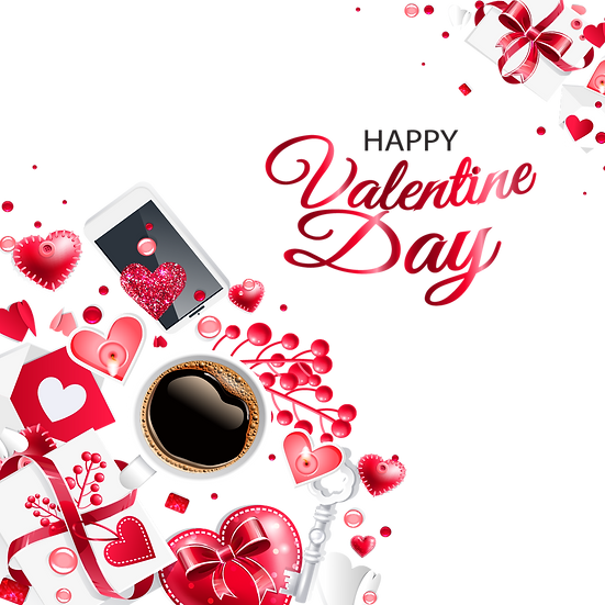 Valentine's Day Incredible Greeting Card - Transparent Image - Instant Download