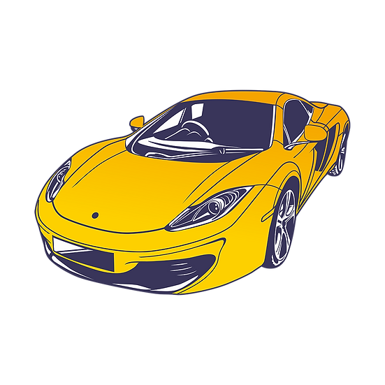 Fantastic Yellow Car - Free PNG Images, Transparent Image Instant Download