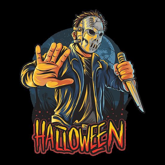Halloween Hockey Man Printables PNG Image  - Editable / Downloadable