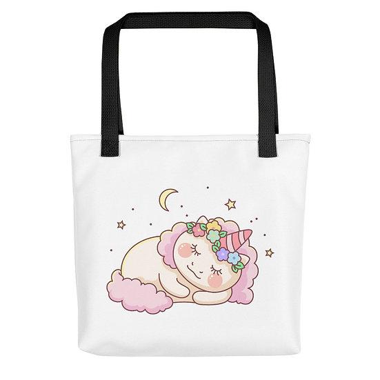 Cute Sleepy Unicorn Tote bag