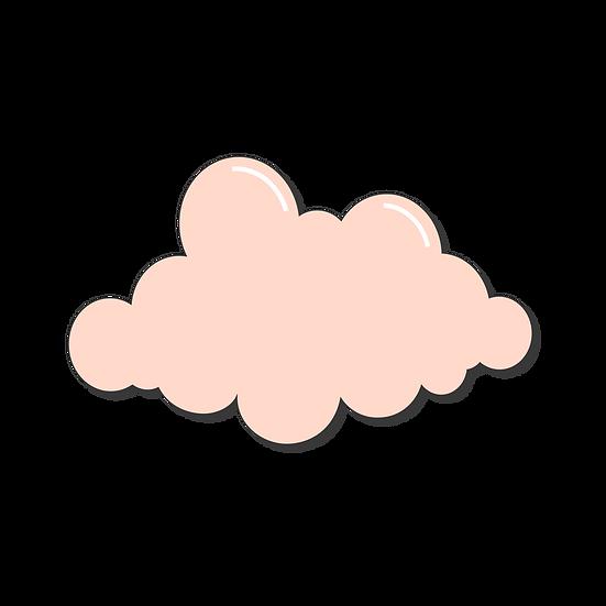 Pastel Cloud Clipart - Free PNG Images, Transparent Image Digital Download