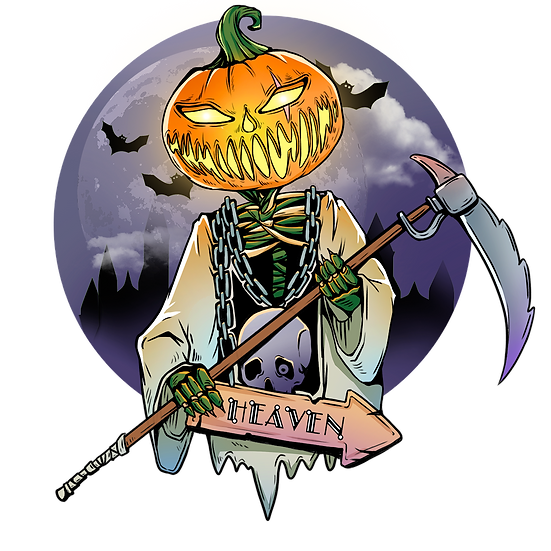 Halloween Heaven Pumpkin Printables PNG Image  - Editable / Downloadable
