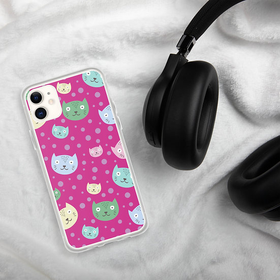 Funny Cats Pink iPhone Cases1