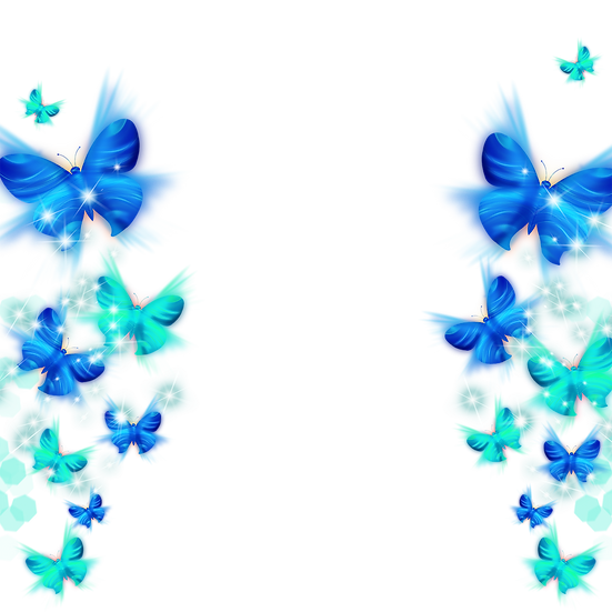 Blue and Green Butterflies - Free PNG Images, Transparent Image Digital Download