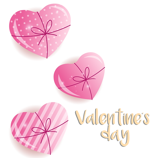 Valentine's Day Cute Greeting Card PNG Transparent Image - Instant Download
