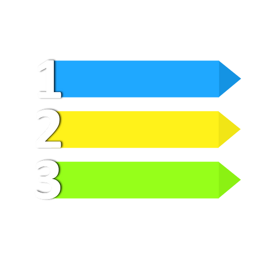 Bright Banners with Numbers - Free PNG Image, Transparent Image Digital Download