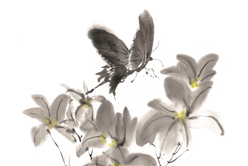 Watercolor Art with Butterfly - Free PNG Transparent Image,Digital Download