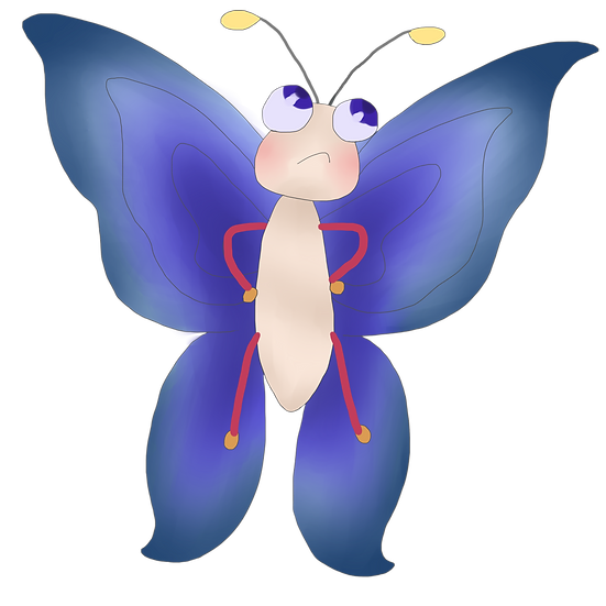 Funny Angry Butterfly - Free PNG Images, Transparent Image Instant Download