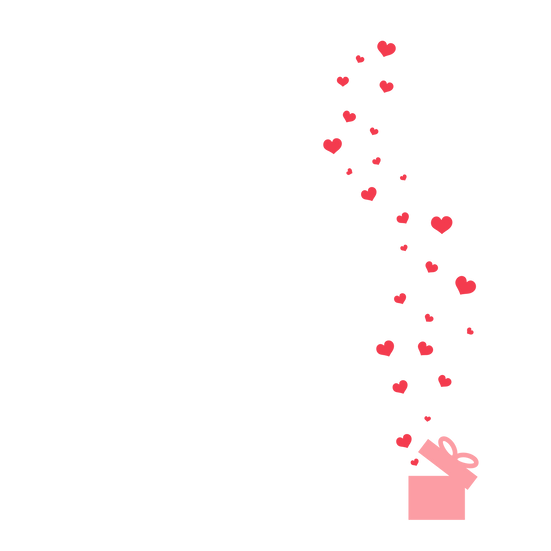 Floating Hearts Clipart - Free PNG Images, Transparent Image Instant Download