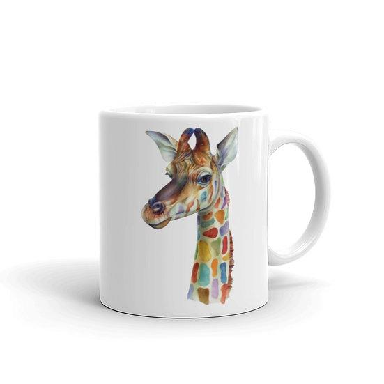 Watercolor Giraffe Coffee Cup Mug for Coffee / Tea White Ceramic Mugs 11/15 oz1