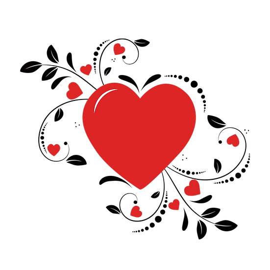 Magic Red Heart Clipart - Free PNG Images, Transparent Image Instant Download